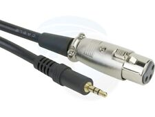 XLR Female Jack to 3.5mm Male 1/8in TRS Stereo Microphone Cable 2m 6ft