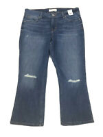 MAURICES Button Fly Distressed CROP Capri Jeans Women's Plus Size 33