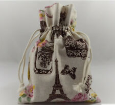 Decorative Pouch Drawstring Gift Bags!! with a Paris theme