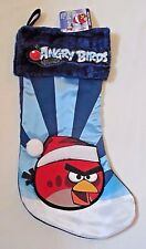 "Angry Birds Christmas Stocking NEW 17"" RED BIRD Blue NWT Video Game Rovio"