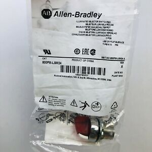 ALLEN BRADLEY 800FP-LSM24 ILLUMINATED RED SELECTOR SWITCH SERIES A