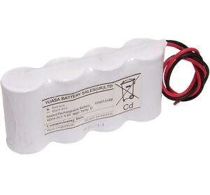Yuasa 4DH4-0L3, 4.8V 4AH Ni-Cd Rechargeable Emergency Lighting Battery Pack