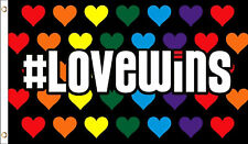 Love Wins Grommet Flag Support LGBT Social Movements 3' x 5'
