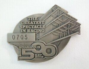 2012 Indianapolis 500 Silver Pit Badge #0705 Dario Franchitti Ganassi Racing