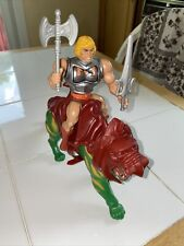 Vintage 1983 MotU He man Figurine and Battle Cat COMPLETE W Weapons and Armor