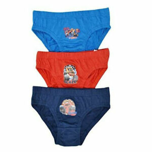 Boys Kids 6 Pairs Blaze Character Briefs Underpants 18-24 Months 4-5 Years Blue