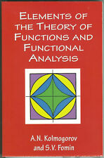 Matematica Kolmogorov Fomin ELEMENTS OF THE THEORY OF FUNCTIONS AND FUNCTIONAL