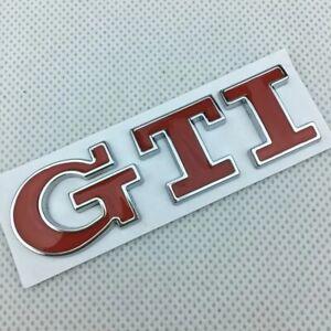 Golf, Polo GTI Emblème lettrage logo arrière chrome rouge