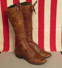 Scarpe vintage da donna marrone in pelle