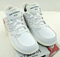 New Balance MW813WT Men's 813 Rollbar Motion Control White Leather Walking Shoes