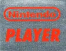 Nintendo Player - silberner Sticker - 1992 - Nintendo NES (264)