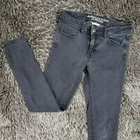 American Eagle AEO Size 10 JEGGING Skinny Jeans Solid Black Low Rise Womens 010