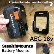 5x StealthMounts for AEG 18v Battery Holder Mount Slot Van Wall Cordless Drill