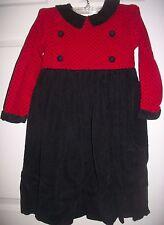 Kelly's Kids Girl Red & Black Corduroy Dress Size 5
