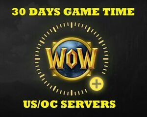 World of Warcraft 30 Days Game Time for US-AMERICAS/OCEANIA ✅FAST DELIVERY✅