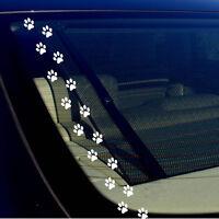 PET PAW PRINTS (16) Vinyl Decal Car Window Bumper Sticker Cat Dog Kitten Puppy