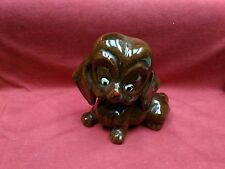 Vintage Red Ware Clay Brown Puppy Dog Pottery Figurine Collectible