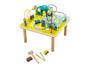 Playtive XXL Wooden Activity Play Table. Bead maze Cars boat Mallet & Pegs 10pcs