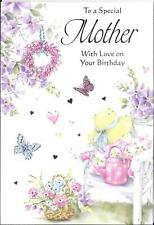 BIRTHDAY CARD TO A SPECIAL MOTHER - GARDEN, CHAIR, WATERING CAN