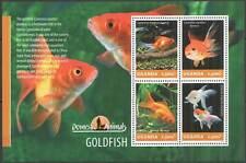 UG015 UGANDA SALE GOLDFISH FISHES FAUNA DOMESTIC ANIMALS #3280-3283 MNH
