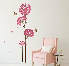 Wall Sticker Flowers With Butterfly Design Living Room Decor Wall Decal Poster
