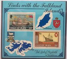 IOM 1984 Block Falkland Segelschiffe Marke auf Marke postfrisch