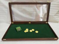 Teca vetrinetta collezionismo espositore fiera monete coltelli medaglie fiches