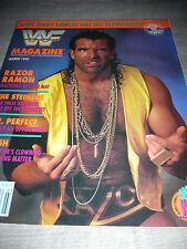 WWE WWF MAGAZINE official 3/93 Razor ramon VERY RARE Steiners Perfect Crush used