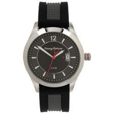 Tommy Bahama Grey on Black Industrialized Silicone Watch TB000029-01 NEW $255.00