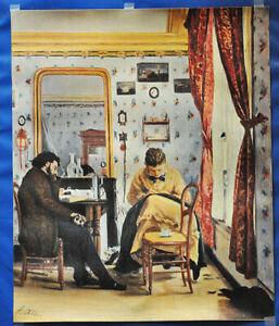 """Francisco Oller Canvas Print 1864 """"El Estudiante"""" Puerto Rico Art Latin Am"""