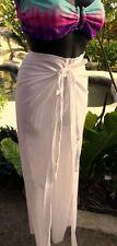 Gauze White Cotton Woman Pario Tie String Pants Small/Medium