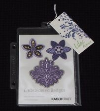 Kaisercraft 'LILAC AVENUE - EMBROIDERED BADGES' Flowers Embellishments KAISER