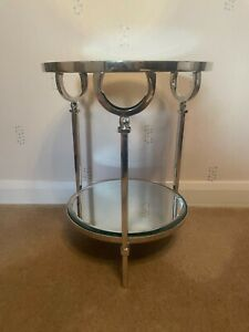 House of Isabella Round 2 Tier Mirrored Table