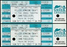 2 Rare Dan Fogelberg Miller Draft Beer Concert Tickets Oct 10 1993 Greek Theatre