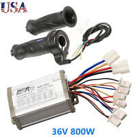 36V 800W Motor Brushed Speed Controller Throttle Twist Grip Scooter E-Bike Razor