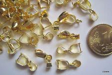 Colgador para colgante 15 mm X 8 UNIDADES baño dorado abalorios fornituras