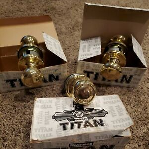 Kwikset Titan Cortez Hancock Passage Brass Door Knobs 720CZ  720H