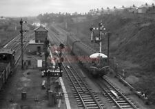 PHOTO  DMU 3 CAR SUBURBAN SET COMING OFF THE GOLDEN MILE AT GAER JUNCTION WITH A