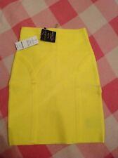 brand new Bebe high waist bandage skirt yellow NWT size XXS