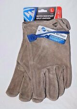 WEST CHESTER Split Leather Water Resistant Heavy Duty Work Gloves Choose M L XL