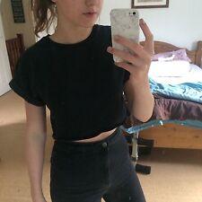 Women's Topshop Crop Top, Black, Size 8