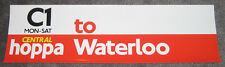 2 London Buses Bus Stop Q-Plate Vinyl Stickers: C1 Central Hoppa to Waterloo