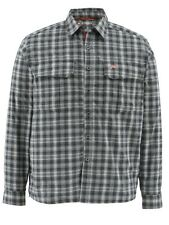 Simms COLDWEATHER Long Sleeve Shirt ~ Black Plaid NEW ~ Size Large ~ CLOSEOUT