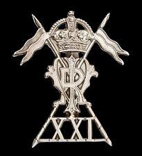 21st Lancers Cap Badge Hallmarked Silver