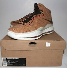 Nike Air Lebron X 10 EXT Cork Classic Brown White Sneakers Mens Size 12 New