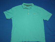 Greg Norman Aqua Blue Polo Shirt size XL