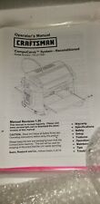Craftsman branded Carvewright compucarve CNCFree shipping for buy it now price