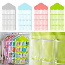 Up 16 Pockets Clear Over Door Hanging Bag Shoe Rack Hanger Storage Organizer