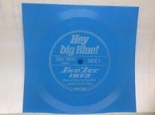 VHTF Hey Big Blue 33 1/3 RPM Sno Jet 1973 Square Plastic Record Promotion Item