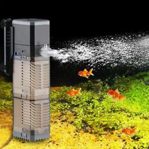Fish Tank Submersible Filter Pump Aquarium Air Water Pumps Durable Supply Tools